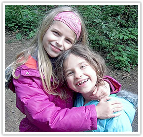 Sisters Alena, left, and Mia Rose.